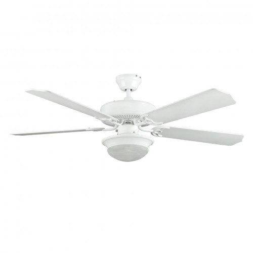 Concord By Luminance 52 Inch Heritage Fusion Ceiling Fan W/2Light Mb Cfl Light Kit - White 52HEF5WH