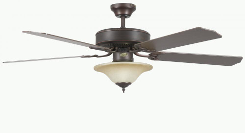 Concord By Luminance 52 Inch Heritage Sq Ceiling Fan W/Bowl Lt - Oil Rubbed Bronze 52HES5EORB
