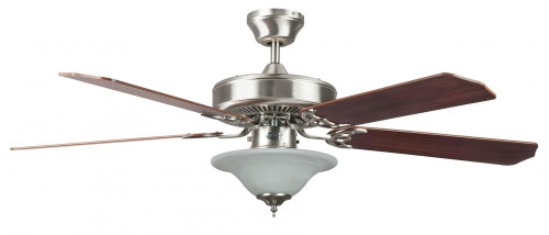 Concord By Luminance 52 Inch Heritage Sq Ceiling Fan W/Bowl Lt - Stainless Steel 52HES5EST