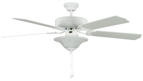 Concord By Luminance 52 Inch Heritage Sq Ceiling Fan W/Bowl Lt - White 52HES5EWH