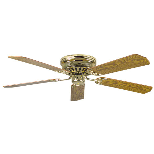 Concord By Luminance 52 Inch Hugger Ceiling Fan W/Lt-Dk Blades - Polished Brass 52HUG5BB