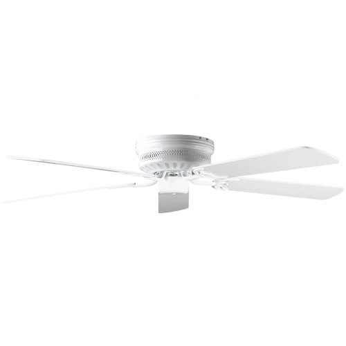Concord By Luminance 52 Inch Hugger Ceiling Fan W/Lt-Dk Blades - White 52HUG5WH