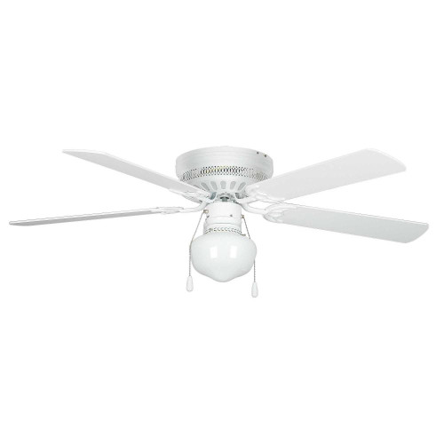 Concord By Luminance 52 Inch Hugger Ceiling Fan W/Gu24 Schoolhouse Kit- White 52HUG5WH-YG8-GU