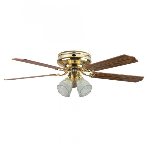 Concord By Luminance 52 Inch Montego Bay Deluxe Ceiling Fan W/ 4Lt Kit - Polished Brass 52MBD5BB