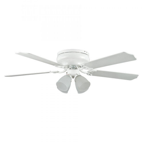 Concord By Luminance 52 Inch Montego Bay Deluxe Ceiling Fan W/ 4Lt Kit - White 52MBD5WH