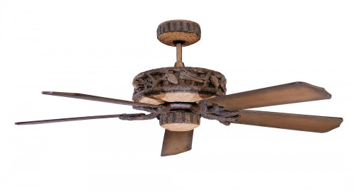 Concord By Luminance 52 Inch Ponderosa Ceiling Fan For Wet Location - Old World Leather 52PD5OWL