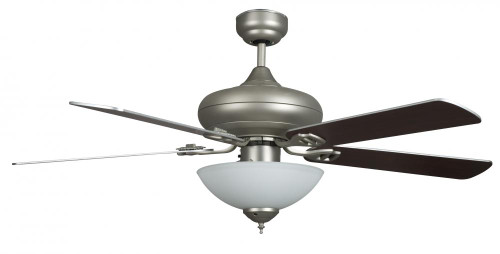 Concord By Luminance 52 Inch Valore Quick Connect Ceiling Fan W/3 Light Kit - Satin Nickel 52VALQC5ESN
