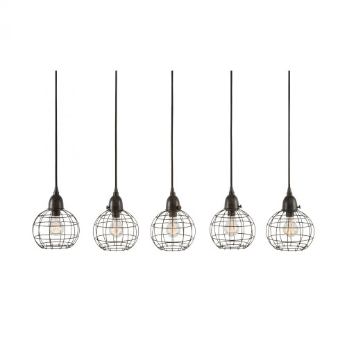 5 Light Wire Ball Pendant In Brown 225064