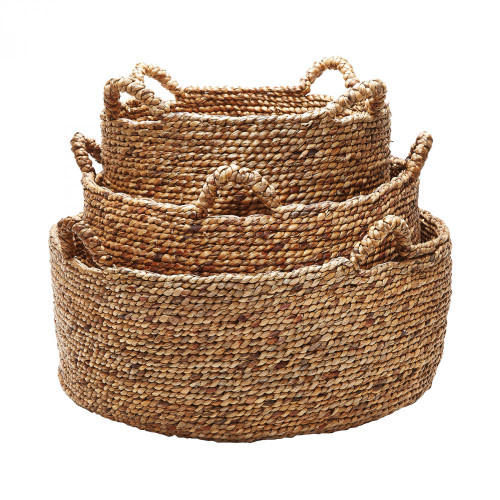 Natural Low Rise Baskets - Set of 3 784083