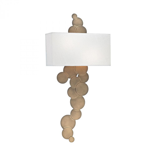 Holepunch 2 Light Wall Sconce In Gold Leaf 1124-004