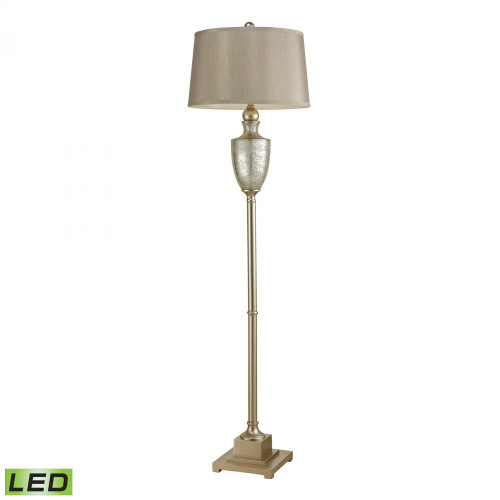 Elmira Antique Mercury Glass LED Floor Lamp With Silver Accents 113-1139-LED