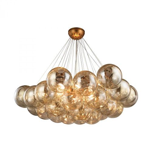 Cielo 6 Light Chandelier In Antique Gold Leaf 1140-011