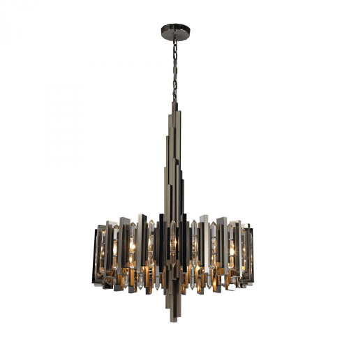 Industrialist 8 Light Chandelier In Polished Nickel 1140-016