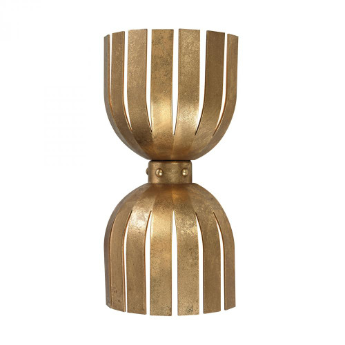 Olympia Double Wall Sconce In Gold Leaf 114-141