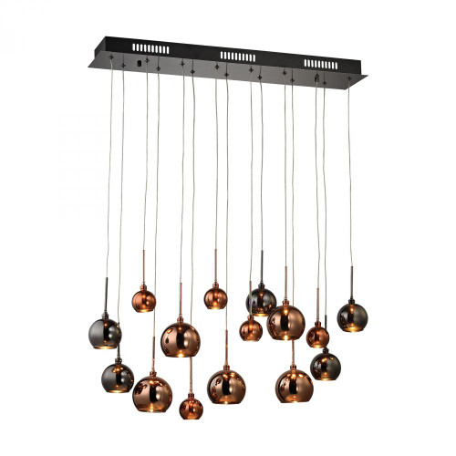 Nexion 15 Light Chandelier In Black Chrome - Large 1142-011