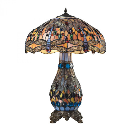 Dimond Fort William Tiffany Glass Table Lamp In Matte