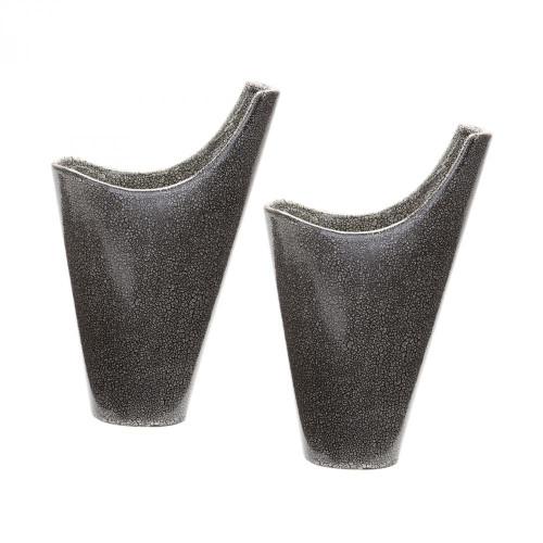 Reaction Filled Vases In Grey - Set of 2 857124/S2