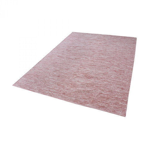 Alena Handmade Cotton Rug In Marsala And White - 36x60