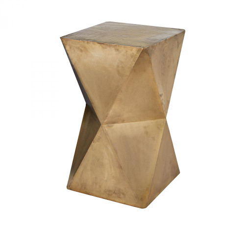 Faceted Stool With Brass Cladding 985-042