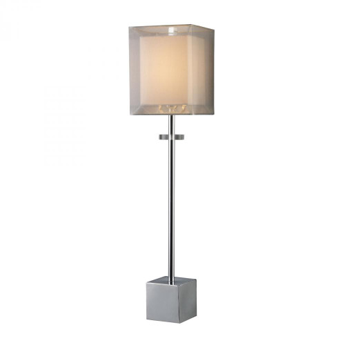 Exeter Table Lamp In Chrome With Double-Framed Shade D1408