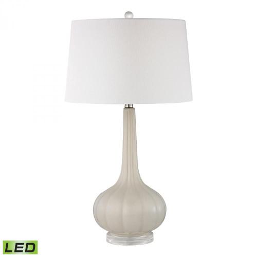 Abbey Lane Ceramic LED Table Lamp in Off White D2458-LED