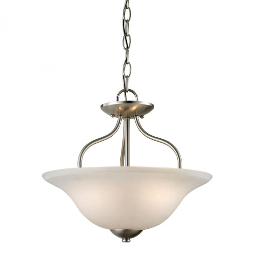 Conway 2 Light Semi-Flush In Brushed Nickel 1202CS/20