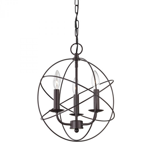 Williamsport 3 Light Chandelier In Oiled Rubbed 1513CH/10