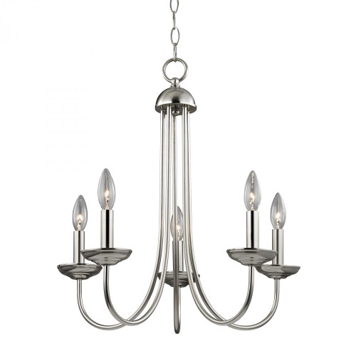Williamsport 5 Light Chandelier In Brushed Nickel 20x23 1525CH/20