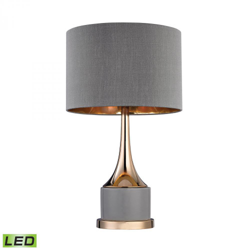 Small Gold Cone Neck LED Lamp D2748-LED