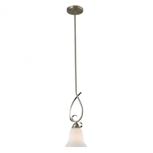 Brighton 1 Light Mini Pendant In Brushed Nickel 1001PS/20
