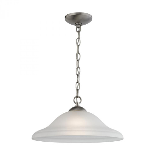 Conway 1 Light Pendant In Brushed Nickel 1201PL/20