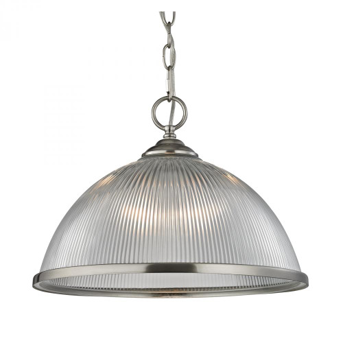 Liberty Park 1 Light Pendant In Brushed Nickel 15x11.5 7691PL/20