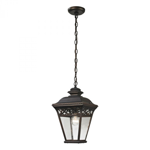 Mendham 1 Light Exterior Pendant Lantern In Hazelnut 8511EH/70