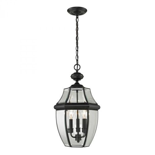 Ashford 3 Light Exterior Hanging Lantern In Black 8603EH/60