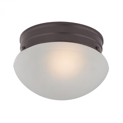 1 Light Mushroom Flushmount In Oil Rubbed Bronze 7021FM/10