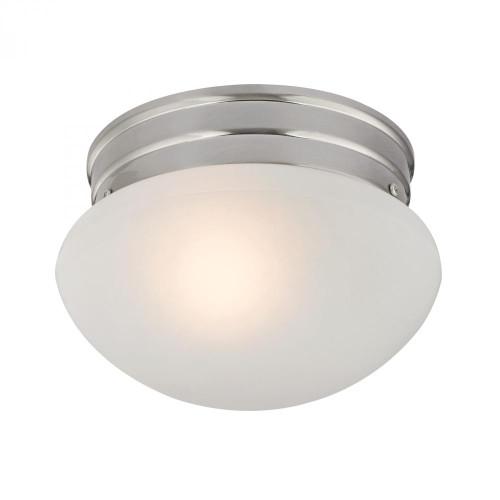 1 Light Mushroom Flushmount In Brushed Nickel 7021FM/20