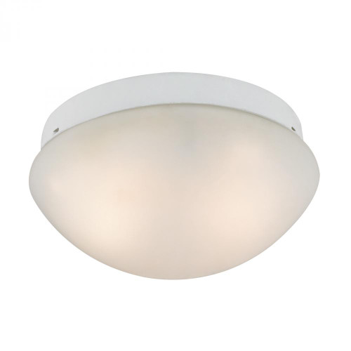 2 Light Mushroom Flushmount In White 7352FM/40