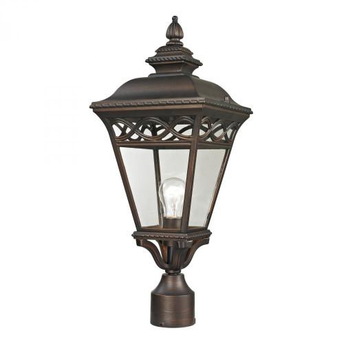 Mendham 1 Light Exterior Post Lantern In Hazelnut 8511EP/70
