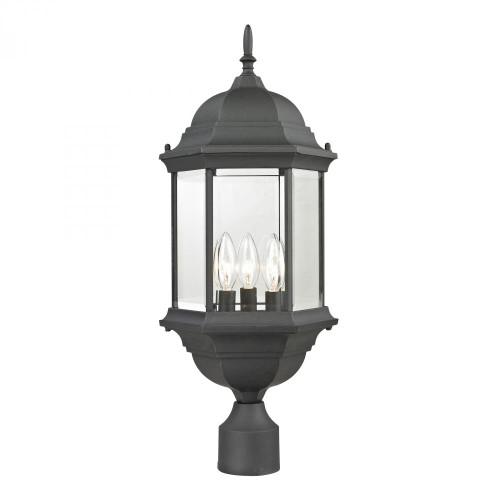 Spring Lake 3 Light Exterior Post Lantern In Matte Black 8603EP/65