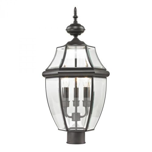Ashford 3 Light Exterior Post Lantern In Oil Rubbed Bronze 8603EP/75