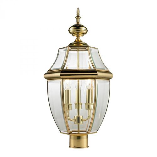 Ashford 3 Light Exterior Post Lantern In Antique 13x23 8603EP/85