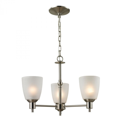 Jackson 3 Light Chandelier In Brushed Nickel 1303CH/20