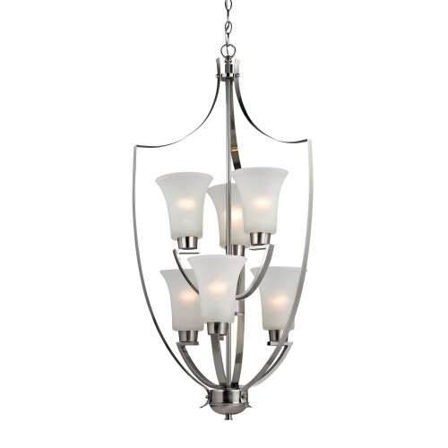 Foyer Collection 6 Light Chandelier In Brushed Nickel 7706FY/20