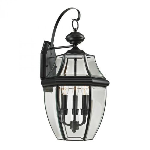 Ashford 3 Light Exterior Coach Lantern In Black 8603EW/60