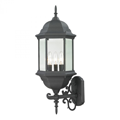 Spring Lake 3 Light Exterior Coach Lantern In Matte Black 8603EW/65