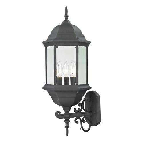 Spring Lake 3 Light Exterior Coach Lantern In Matte Black 8603EW/65