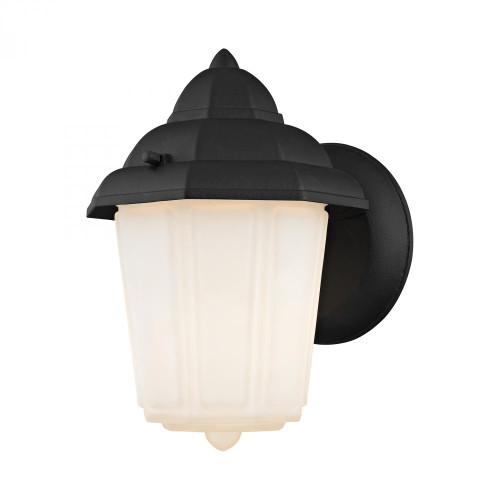 1 Light Outdoor Wall Sconce In Matt Black 6x9 9211EW/65