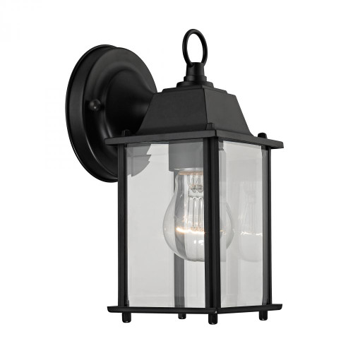 1 Light Outdoor Wall Sconce In Matte Black 9231EW/65
