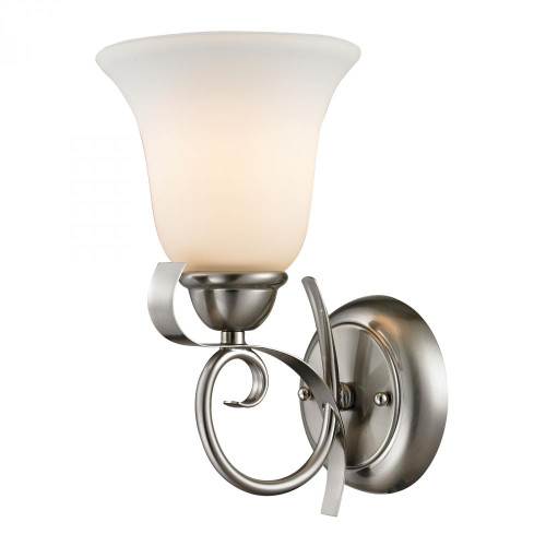 Brighton 1 Light Wall Sconce In Brushed Nickel 1001WS/20