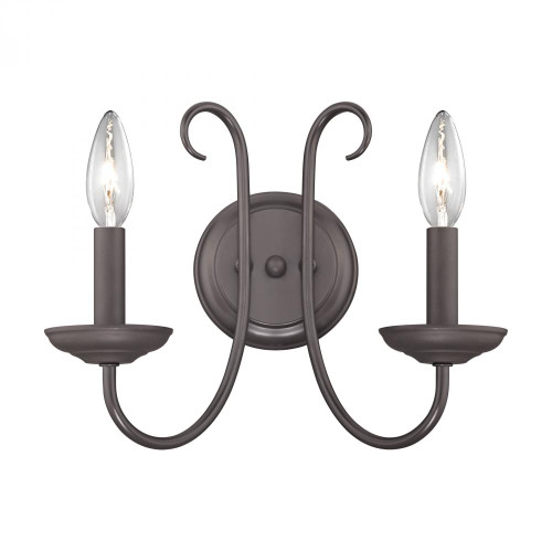 Williamsport 2 Light Wall Sconce In Oil Rubbed bronze 1502WS/10